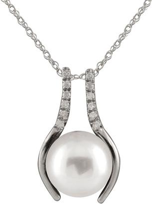 Splendid Pearls 14K Diamond & 10-11Mm South Sea Pearl Necklace