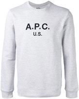 A.P.C. logo sweatshirt - men - Cotton/Polyester - L