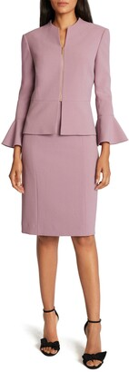 Tahari Two-Piece Peplum Jacket & Sleeveless Sheath Dress