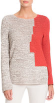 Nic+Zoe Color Block Textured Pullover