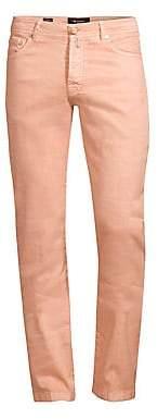 Kiton Men's Five-Pocket Linen-Blend Jeans