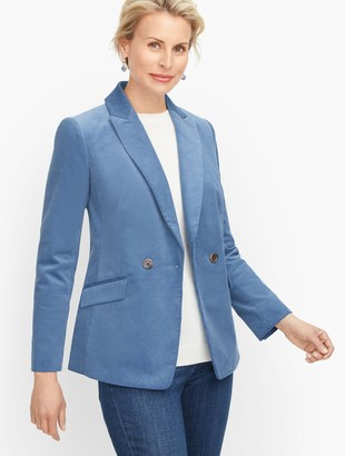 Talbots Double Breasted Corduroy Blazer