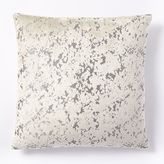 west elm Jacquard Velvet Distressed Pillow Cover - Natural Canvas