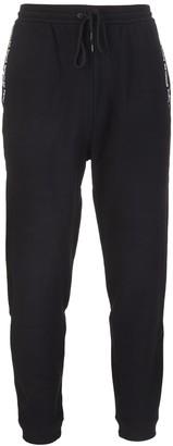 Moncler Black Man Sports Pants With Frgmt Lettering