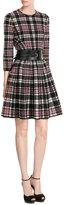 Alexander McQueen Tartan Wool Dress