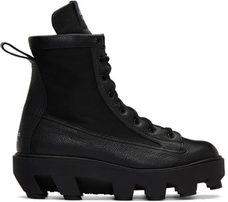 S.R. STUDIO. LA. CA. Black Therapist Lace-Up Boots