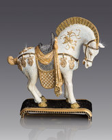 Jay Strongwater Dynasty Horse Figurine