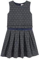 Lili Gaufrette Jacquard dress with lurex thread