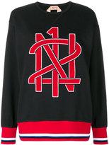 No.21 logo patch sweatshirt