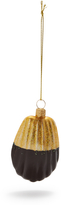 Sur La Table Chocolate-Dipped Madeleine Glass Ornament