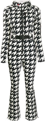 Perfect Moment Houndstooth Hooded Jumpsuit