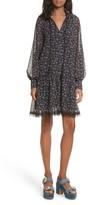 See by Chloe Women's Allover Roses Drop Hem Dress
