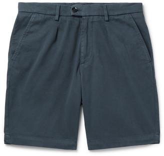 HUGO BOSS Slim-Fit Pleated Stretch-Cotton Shorts
