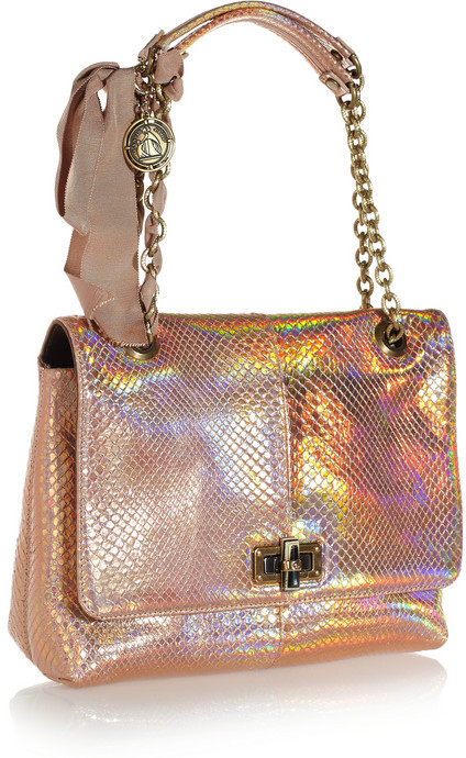 Lanvin The Happy medium holographic python shoulder bag