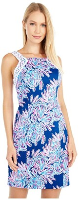 Lilly Pulitzer Makayla Stretch Shift (Oyster Bay Blue Miss Shell) Women's Dress