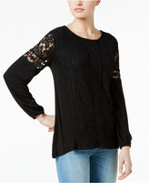 Style&Co. Style & Co Lace Peasant Top, Only at Macy's