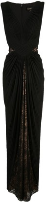 Tadashi Shoji Lace Draped Evening Dress