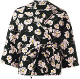 Rochas floral print jacket - women - Cotton/Silk/Viscose - 38