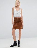 Pepe Jeans Keira Suede 70's Mini Skirt