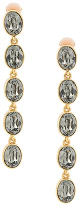 Oscar de la Renta Five Tier Hanging Earrings