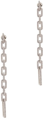 Fallon Pave Crystal-embellished Silver-tone Drop Earrings