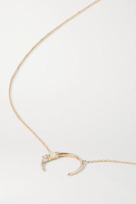 SARAH & SEBASTIAN - Chroma 10-karat Gold, Diamond And Opal Necklace