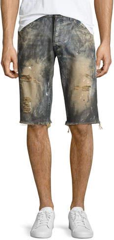 PRPS Beach Day Cutoff Denim Shorts, Indigo