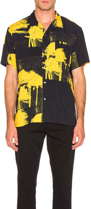DOUBLE RAINBOUU Windy Nice Print Shirt in Midnight Blue | FWRD