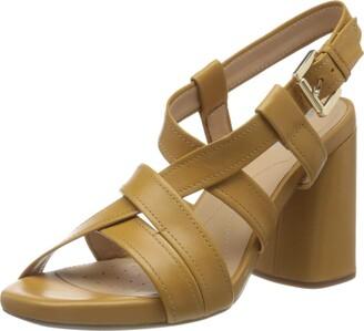 Geox Women's D GENZIANA HIGH B Open Toe Sandals