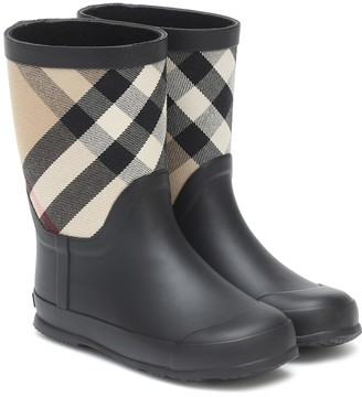 BURBERRY KIDS Checked rubber boots