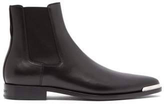 Givenchy Dallas Metal Toe Leather Chelsea Boots - Mens - Black