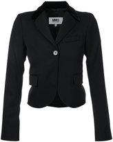 MM6 MAISON MARGIELA fitted cropped jacket - women - Polyester/Spandex/Elastane/Viscose/Virgin Wool - 38