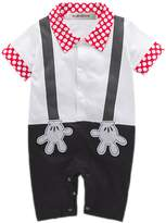 StylesILove.com StylesILove Baby Boy Mickey Mouse Faux Suspender Costume Romper (12-18 Months)