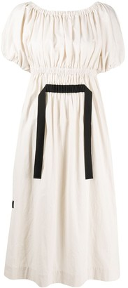 Molly Goddard Two-Tone Flared Dress