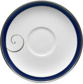 Noritake Platinum Wave Indigo Porcelain Saucer