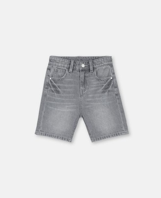 Stella McCartney denim shorts with badge