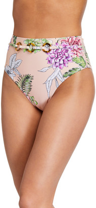 Letarte Cabo Floral-Print Bikini Bottom