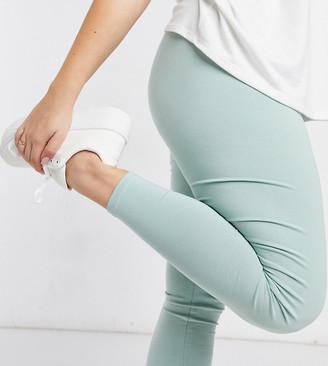 ASOS DESIGN Curve premium supersoft cotton modal leggings in sage