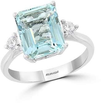 Bloomingdale's Aquamarine & Diamond Cocktail Ring in 14K White Gold - 100% Exclusive