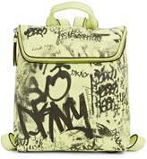 DKNY Graffiti Logo Leather Backpack
