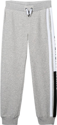 Givenchy Grey Trousers With White Band And Logo