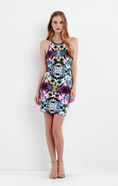 Nicole Miller Adeline Mirrored Blossom Halter Dress