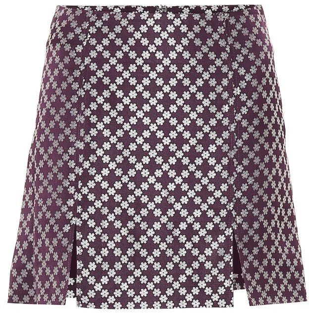 89a13ec3ae35 Purple Brocade Skirt - ShopStyle