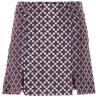 ALEXACHUNG Brocade miniskirt
