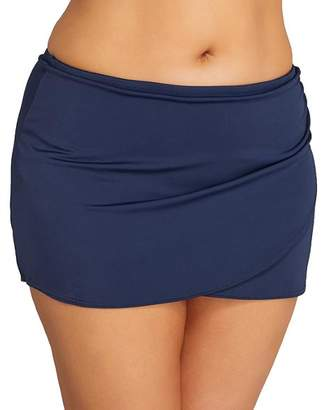 Elomi Plus Size Essentials Wrap Skirted Bikini Bottom