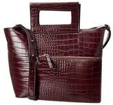 French Connection Corey Small Croc-embossed Leather Tote.