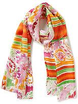Lauren Ralph Lauren Elaine Paisley & Striped Silk Twill Scarf