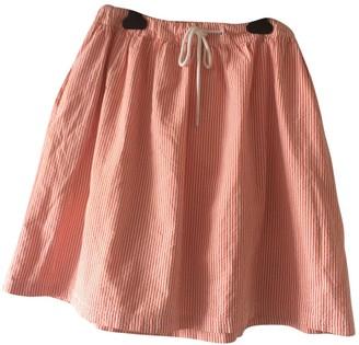 Petit Bateau Orange Cotton Skirt for Women