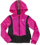 adidas Girls 4-6x climawarm Twirl Trainer Hooded Jacket