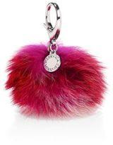 Rebecca Minkoff Multicolor Fox Fur Pom-Pom Keychain